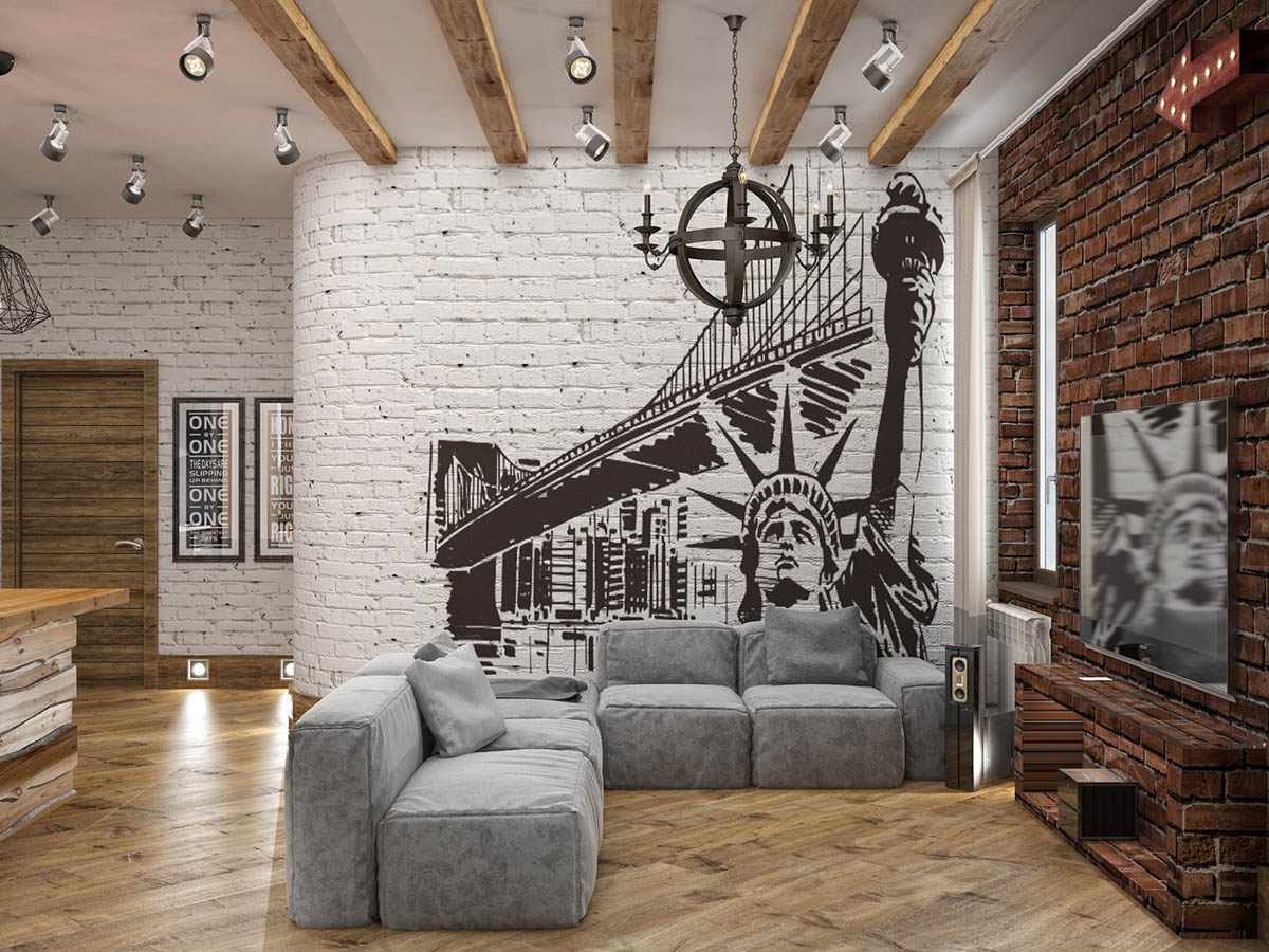 Industrial Style Decor Ideas Home Designing Rich Industrial Style Unites Jewel Colours