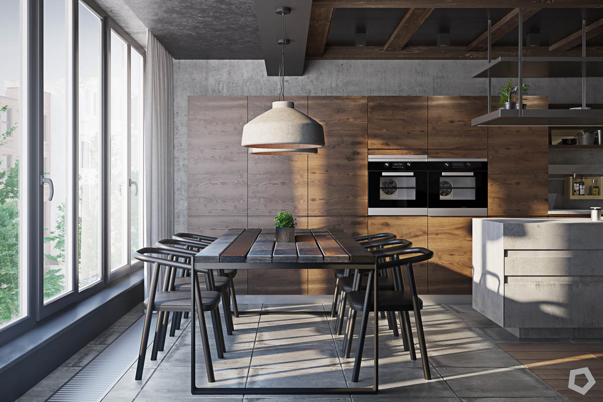Apartments With Exposed Brick Three Homes Using Exposed Brick Wood Panelling And Grey