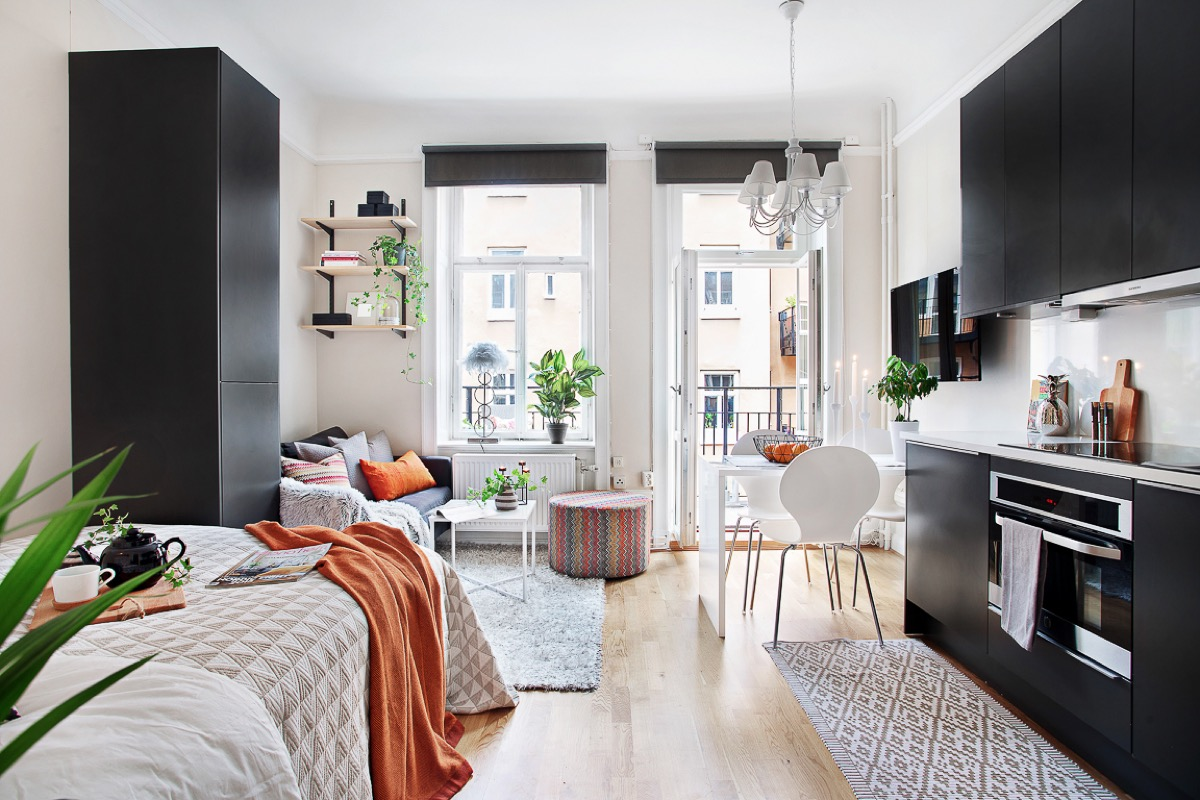 Small Apartment Interior 4 Small Studio Interior Designs That Give Little Places A Lift