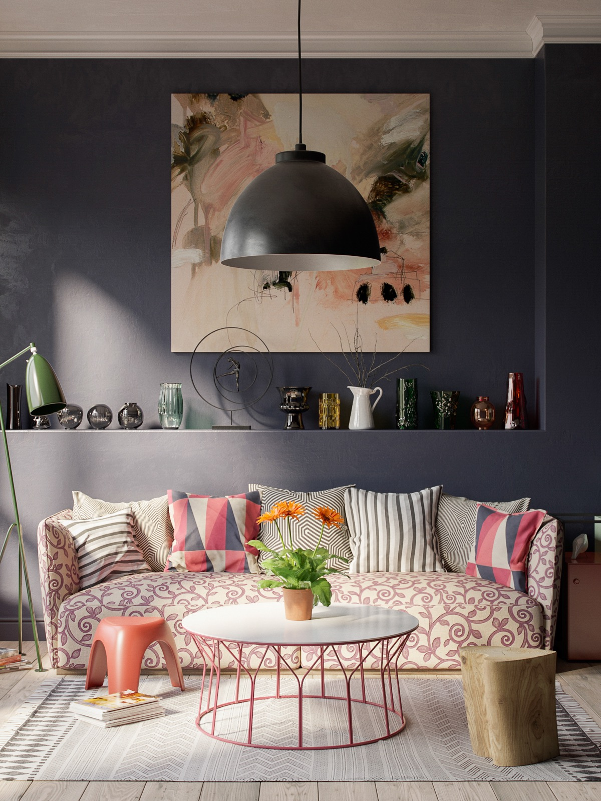 Pink And Grey Living Rooms 40 Grey Living Rooms That Help Your Lounge Look