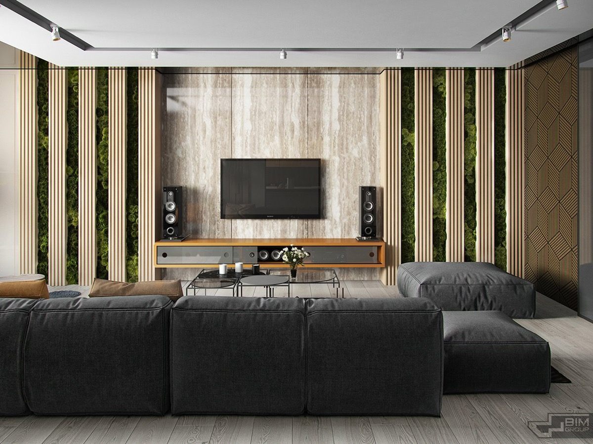 Wood Wall Behind Tv 50 Ideas To Decorate The Wall You Hang Your Tv On