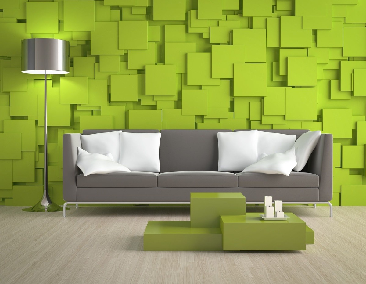 Green Accent Wall 30 Gorgeous Green Living Rooms And Tips For Accessorizing Them