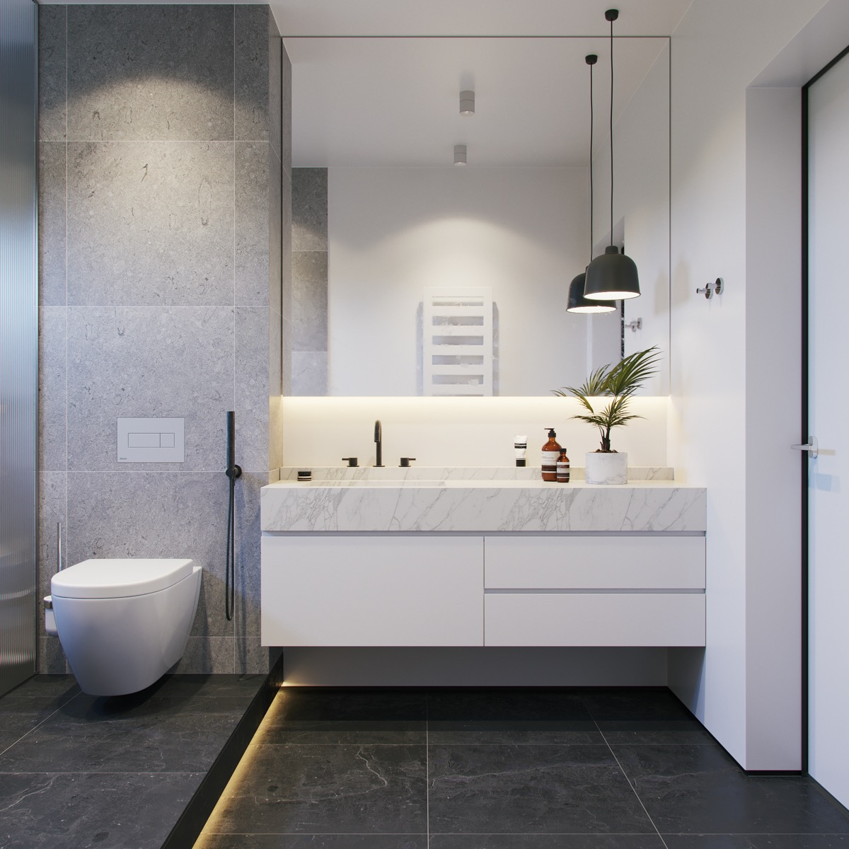 Black White Gray Bathroom Ideas 36 Modern Grey And White Bathrooms That Relax Mind Body And Soul