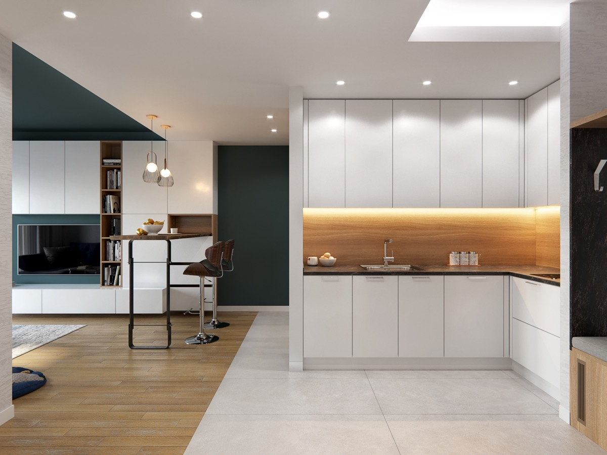 Home Designing 50 Lovely L Shaped Kitchen Designs Tips