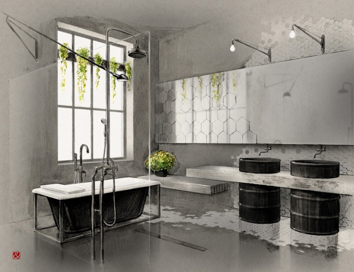 Industrial Decor Lighting 51 Industrial Style Bathrooms Plus Ideas And Accessories You