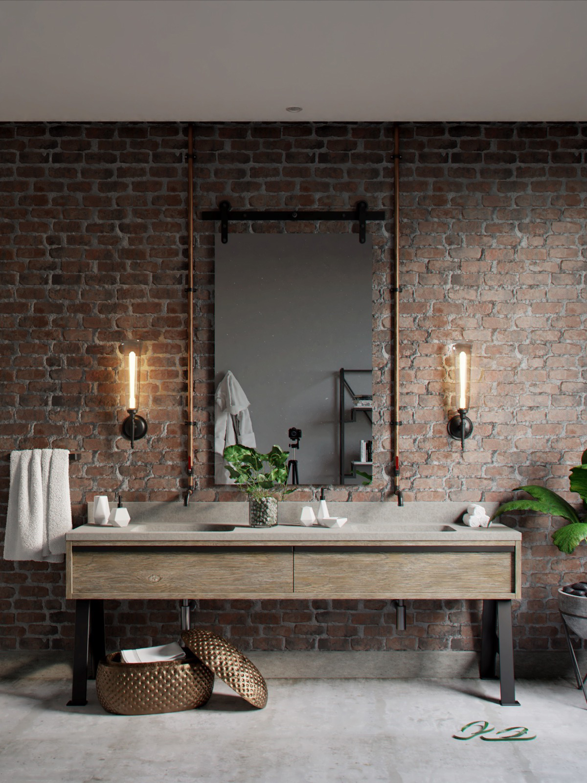 Industrial Style Bathroom Mirror 51 Industrial Style Bathrooms Plus Ideas And Accessories You