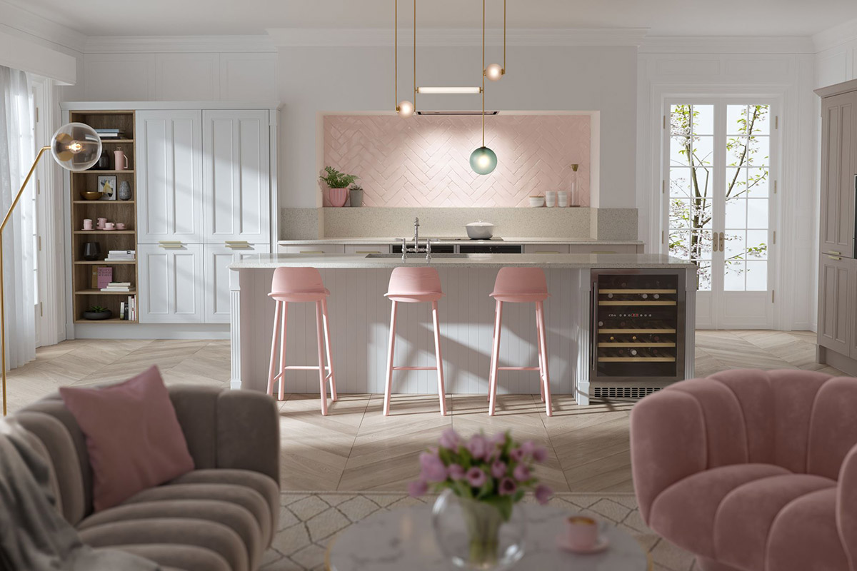 Pastel Pink Kitchen Accessories 51 Inspirational Pink Kitchens With Tips And Accessories To