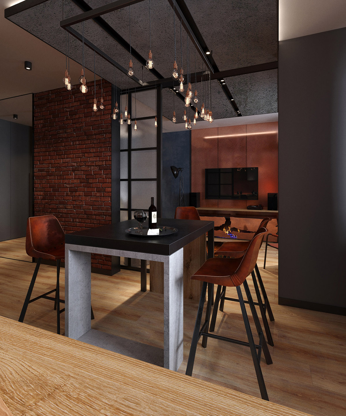 Industrial Chic Lighting 4 Apartments That Turn Up The Dial On Industrial Style