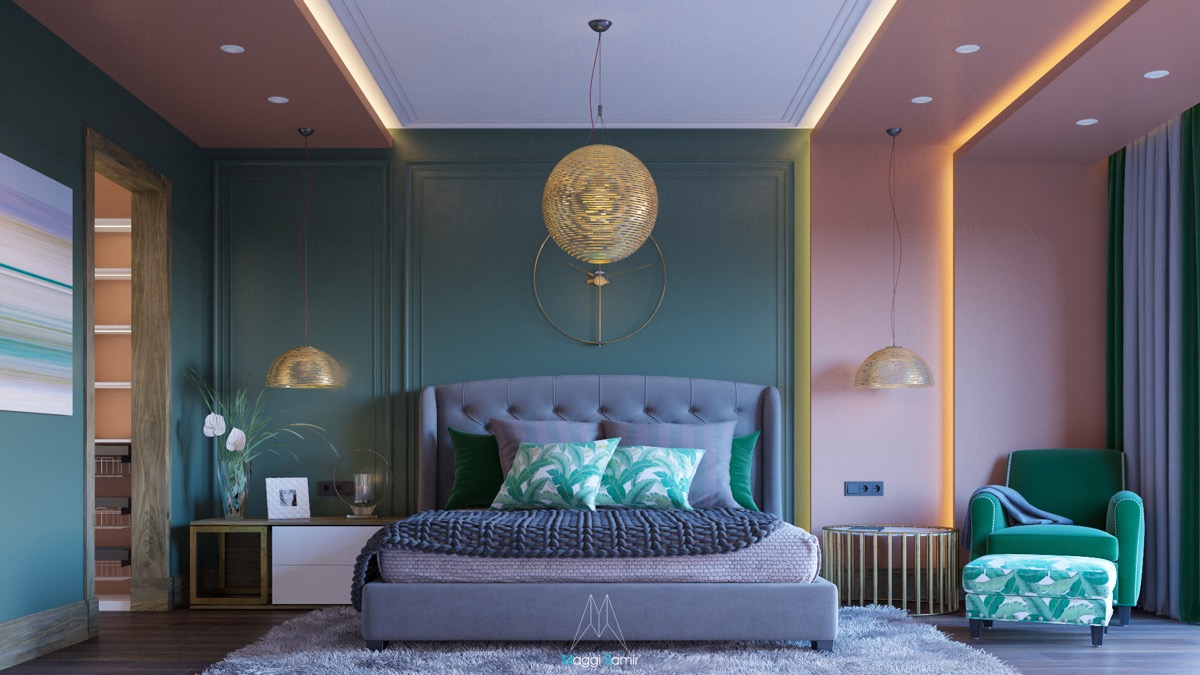 51 Green Bedrooms With Tips And Accessories To Help You Design Yours - Green Designer Bedroom