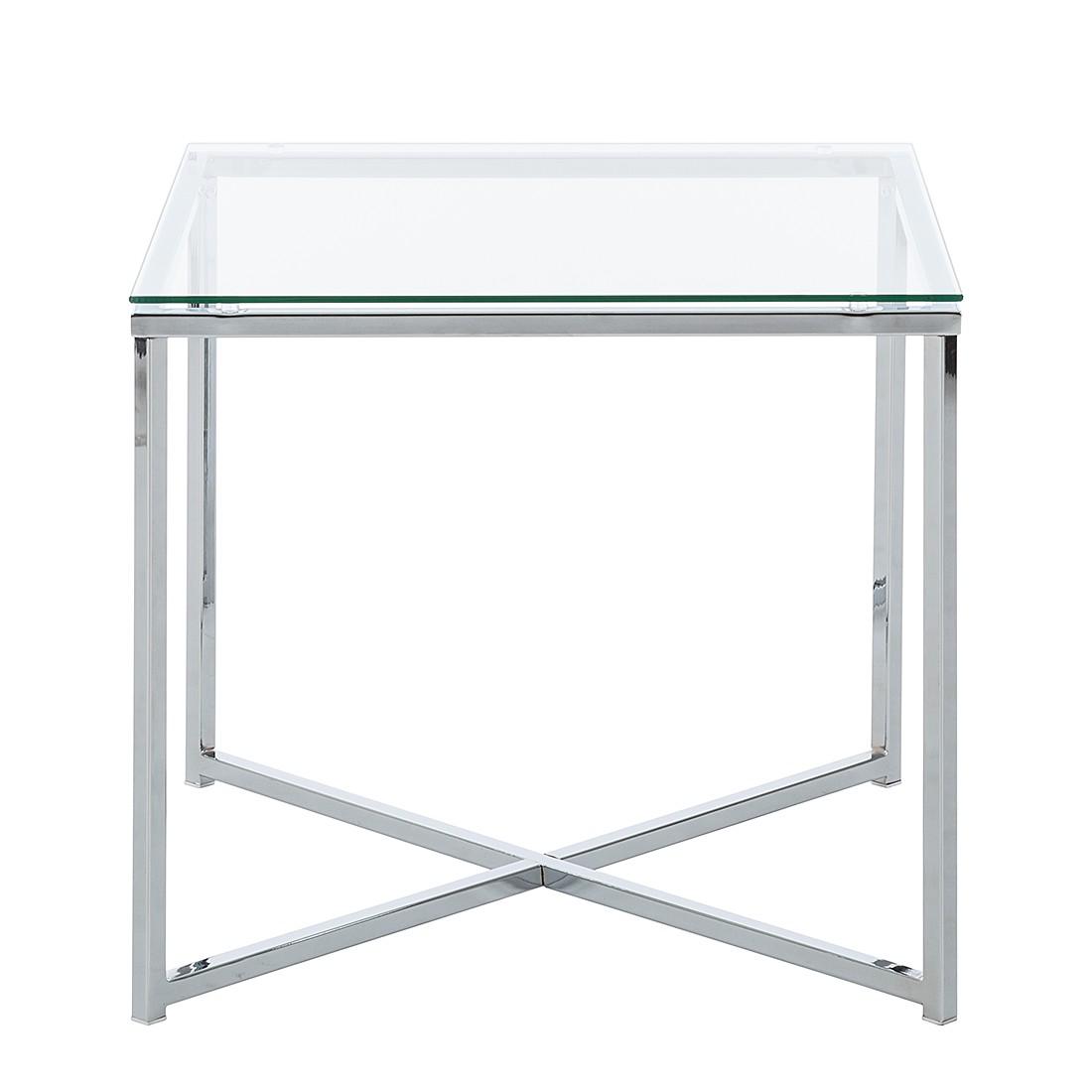 Beistelltisch glas chrom  Beistelltisch Eckig Edelstahl