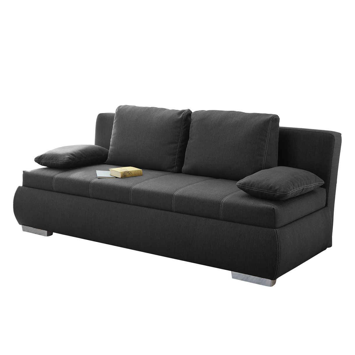 Boxspring Kaufen Boxspring Schlafsofa Madang Webstoff Anthrazit Fredriks