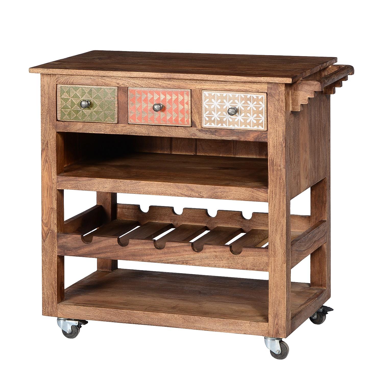 Küchenwagen Holz Massiv | Sit Samba Antik Used Look Akazie ...