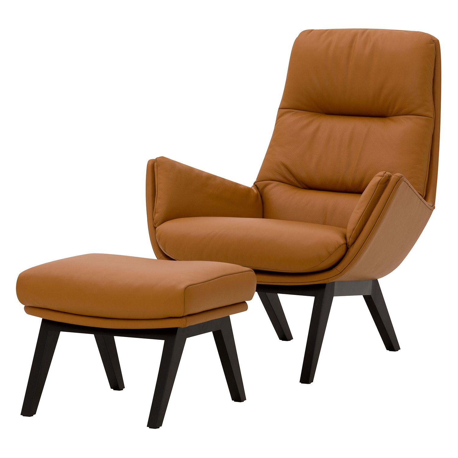 Sessel Cognac Sessel Cognac Cognac Brown Colored Original Leather Armchair In A