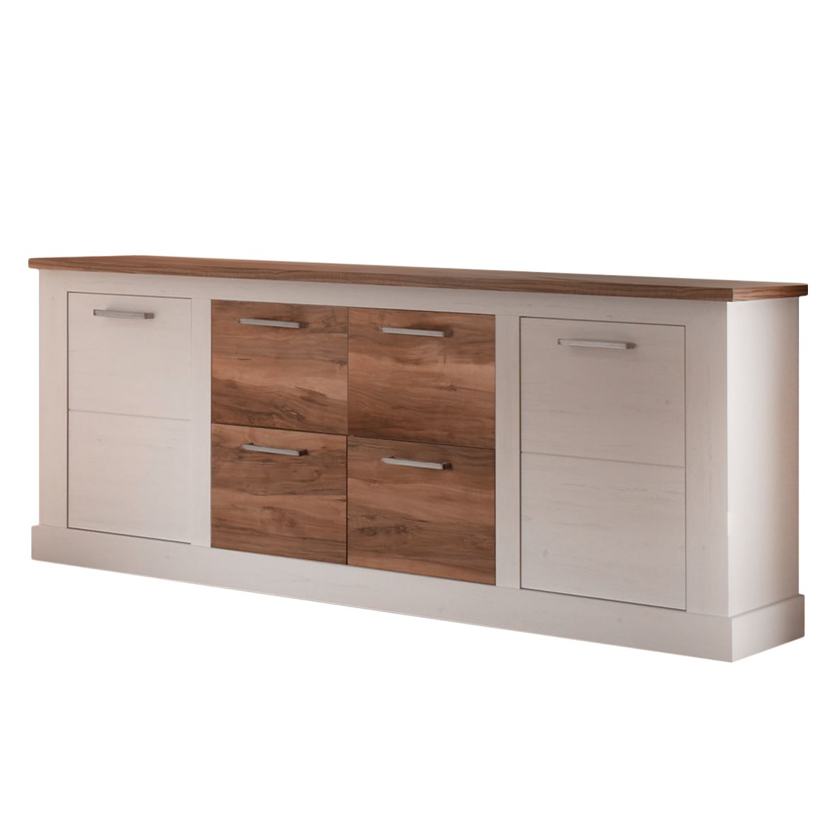 Highboard Nussbaum Satin Nussbaum Dekor Simple Havanna Midischrank T In Glas Schwarz