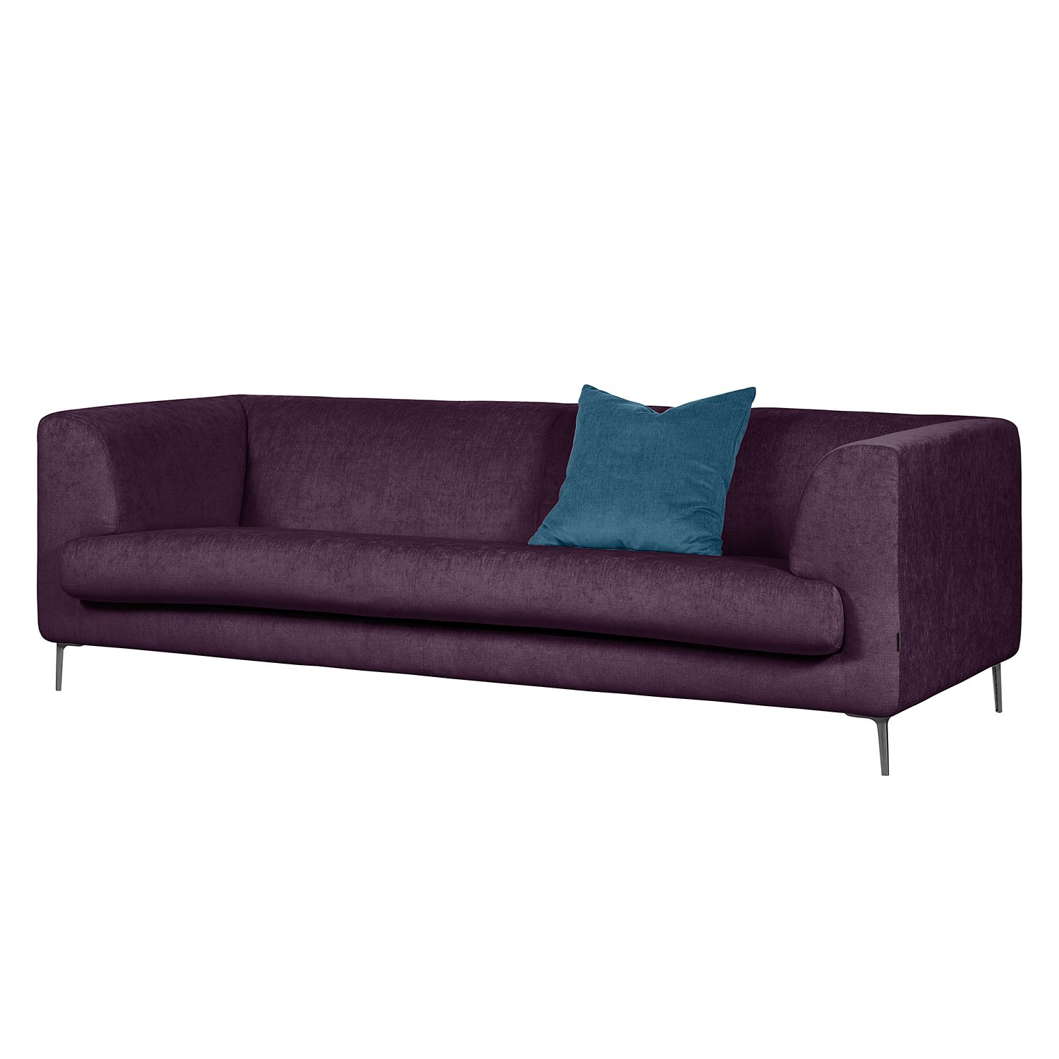 Bank Ijsblauw Retro 3zits Bank Nano Aubergine Zen Lifestyle In De