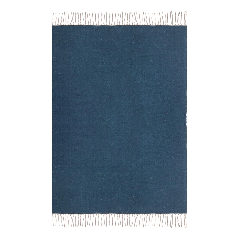Teppich Wolle Blau Handgeknupfter Gabbeh Teppich 90x160cm 100
