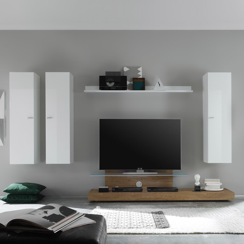 Wohnzimmerwand Weiss Hochglanz Genial Wohnwand Schwarz Weiß