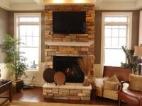 Colonial Living Room in Portsville - traditional living ...