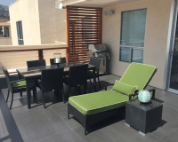Mid-Century Modern Patio in West Hollywood - ceramic tile ...