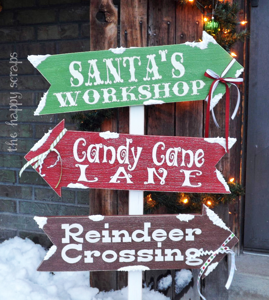 Christmas wooden lawn decorations - Wooden Christmas Outdoor Decorations Winter Directions Signs For Christmas Outdoors Download