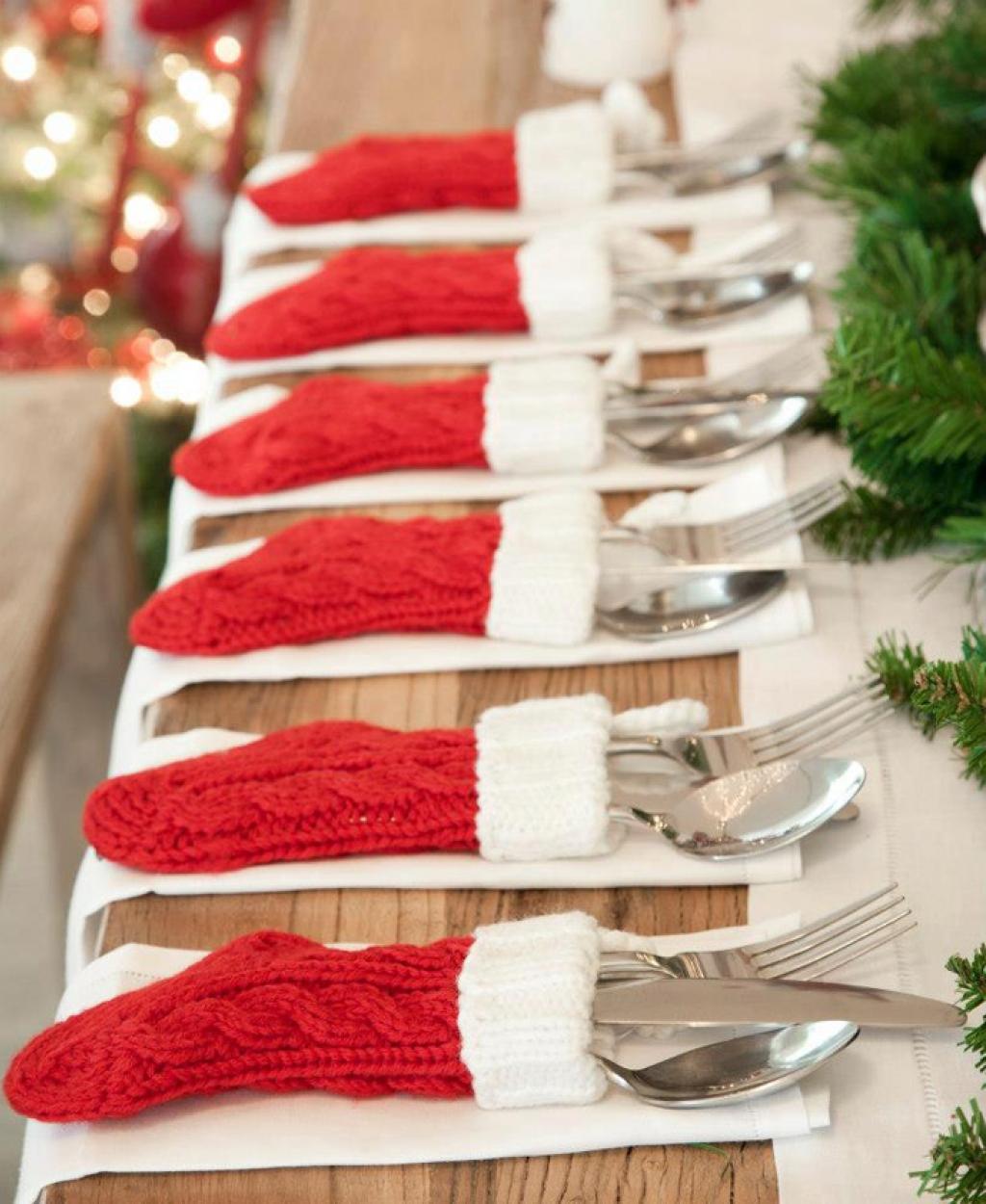 3 silverware stockings