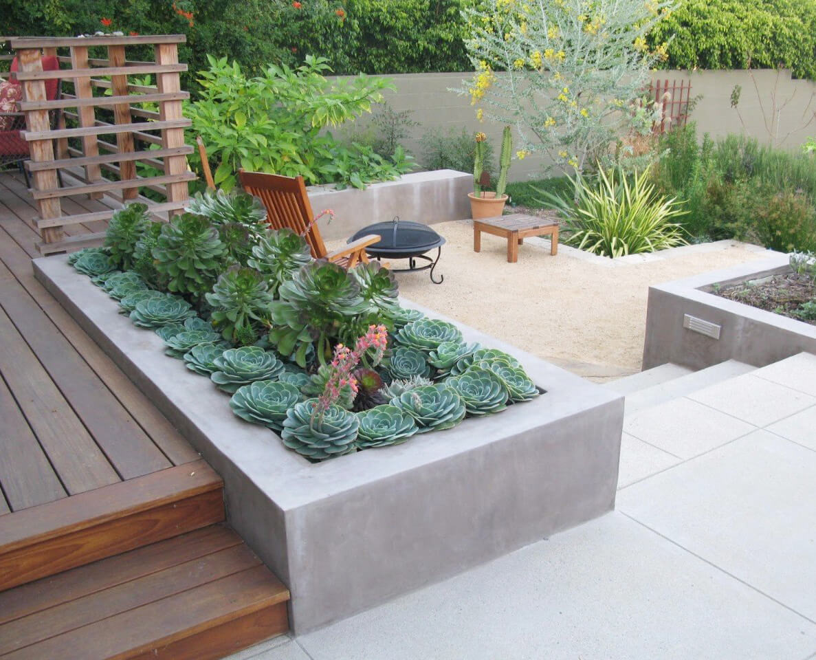 Concrete Garden Planters 33 Best Built In Planter Ideas And Designs For 2017