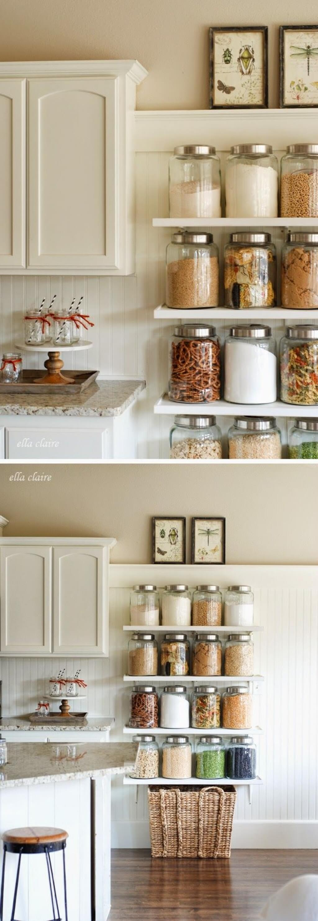 Shelving For Kitchen 35 Best Small Kitchen Storage Organization Ideas And