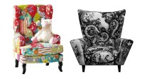 22 Gorgeous Printed Wing Back Chairs | Home Design Lover