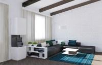 White Living Room Carpet