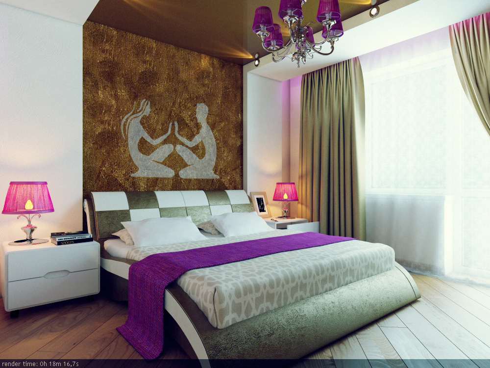 Designer Wall Patterns Home Designing - wall designs for bedroom