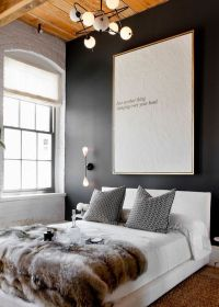 modern-wall-art-above-bed - Home Decorating Trends - Homedit