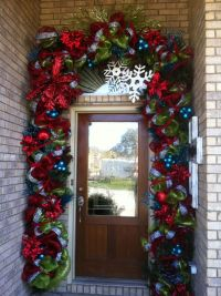 Front door christmas decorations ideas pinterest