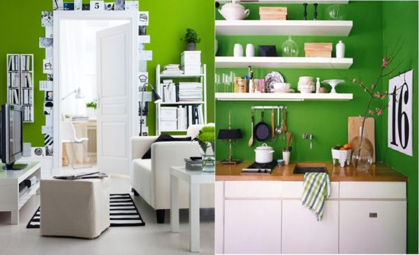 How To Decorate With Green White And Black