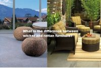 What is the difference between wicker and rattan furniture?