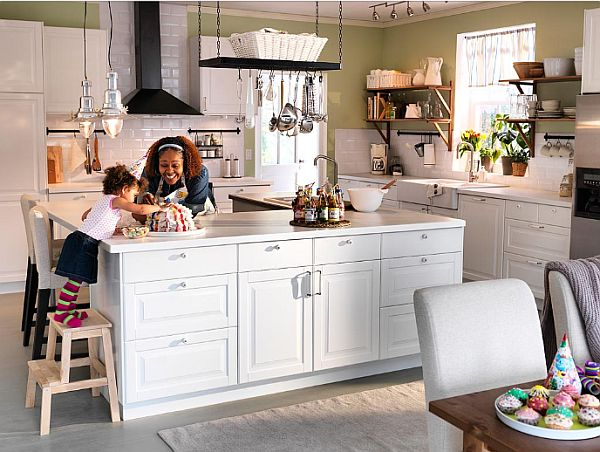 Ikea Small Kitchen. Kitchen Storage Have To Mean Cabinets Hide All