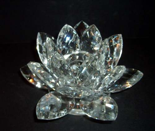 Shannon Crystal Lotus Candle Holder