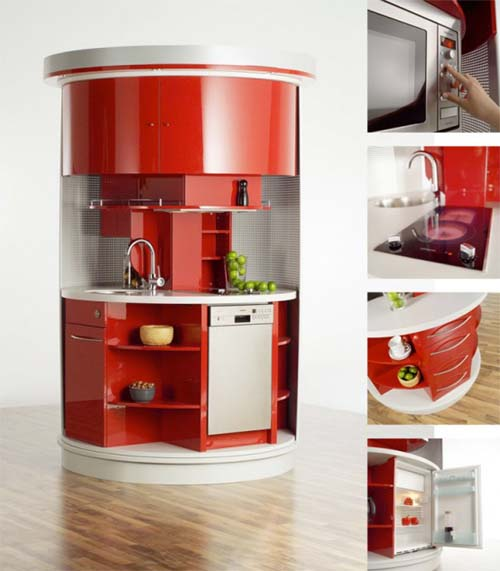 compact circle kitchen alfred averbeck small kitchen requires innovative approach designed kitchen
