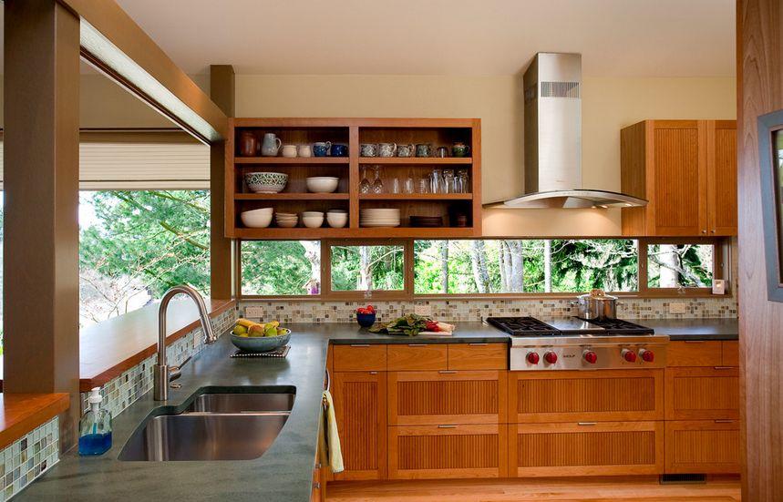 choosing integrating windows home design glass tile backsplash slightly glitzier alternative