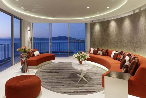 San Francisco Apartment With Circular Living Room Design