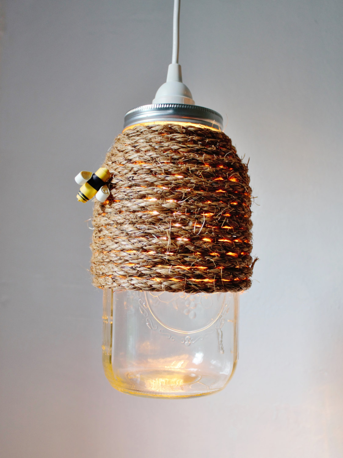 Glass Jar Lamp Shade Lovely Diy Aqua Chandelier