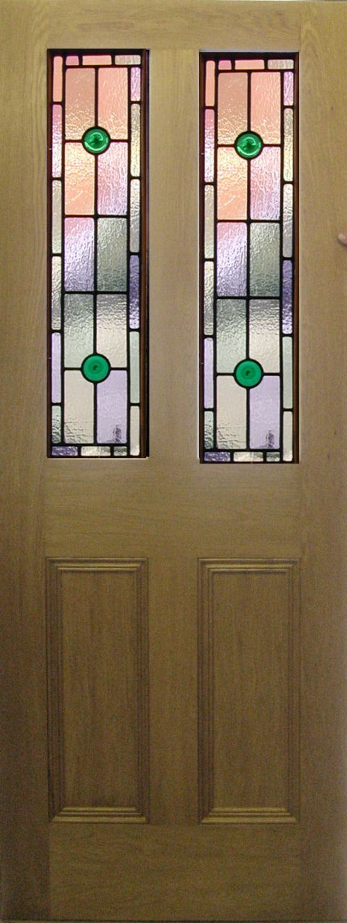 Medium Of Stained Glass Doors