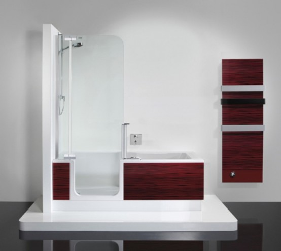 Dusche Und Badewanne In Einem Bathtub And Shower In One Unit