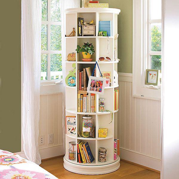 Space Saving Revolving Bookcase