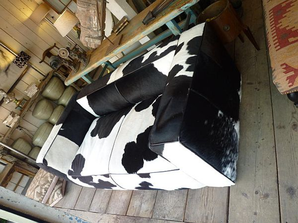 Modern Couches Black And White Cow Hide Couch