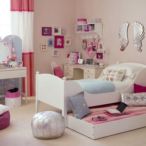 55 Room Design Ideas for Teenage Girls - beautiful bedroom ideas for small rooms