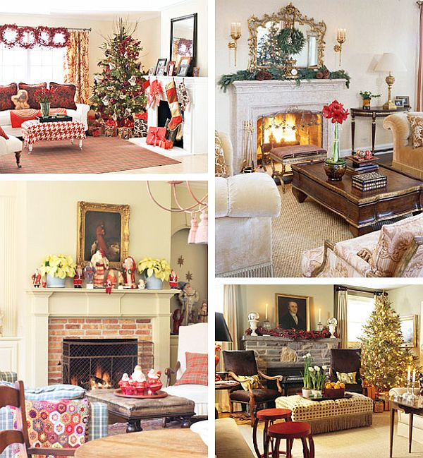 40 Christmas Fireplace Mantel Decoration Ideas - christmas decorations for mantels