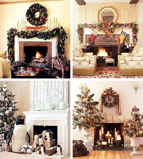 40 Christmas Fireplace Mantel Decoration Ideas - christmas mantel decor