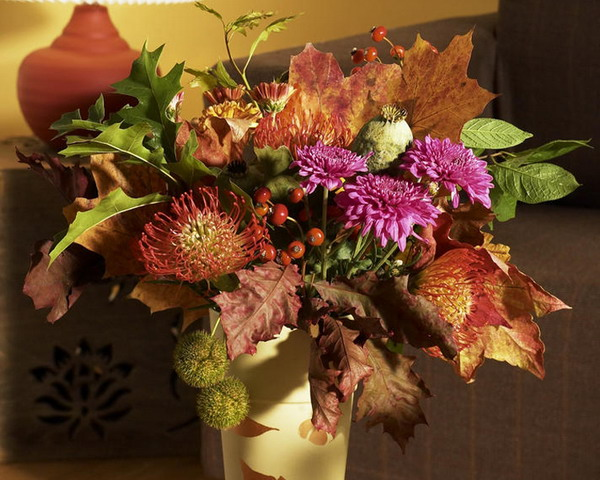 Fall Leaves And Pumpkins Wallpaper 35 Thanksgiving Day Table Decorations