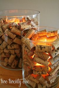 Shabby in love: Christmas decorations made of wine corks