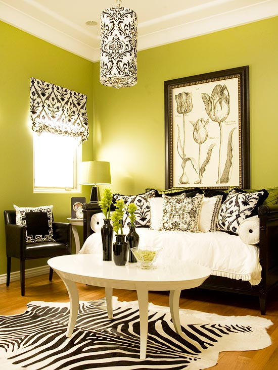 15 Green living room design ideas - color for living room